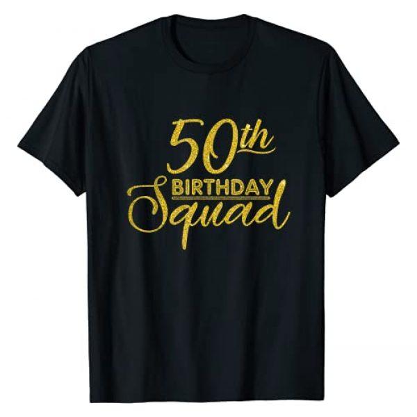 50th Birthday Squad Party Birthday Bday Gold Gifts Graphic Tshirt 1 50th Birthday Squad Party Birthday Bday Yellow Gold Birthday T-Shirt
