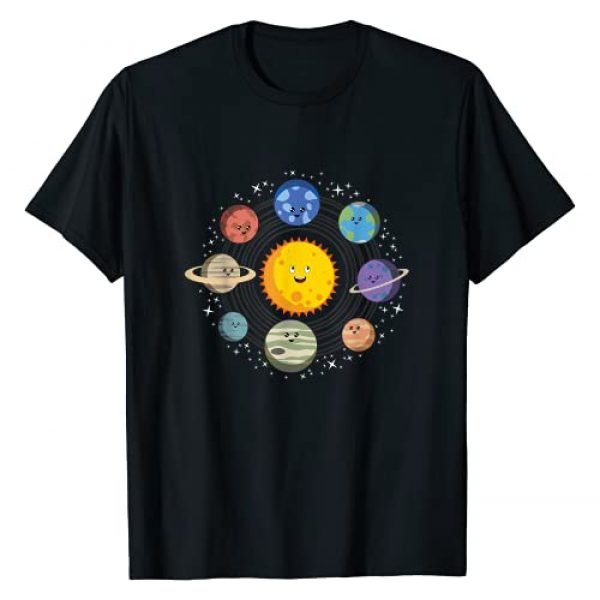 Space Gifts For Kids By Art Like Wow Graphic Tshirt 1 Solar System, Planets, Space Galaxy Gift For Kids Boys Girls T-Shirt