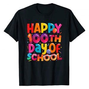 Grapheino Co. 100th Day of School Teacher Shirts Graphic Tshirt 1 100th Day of School Shirt for Teachers Boys Girls 100 Days T-Shirt