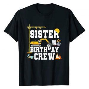 Construction Birthday Party Tshirts Mejeo Co. Graphic Tshirt 1 Sister Birthday Crew Shirt Girls Construction Birthday Party T-Shirt