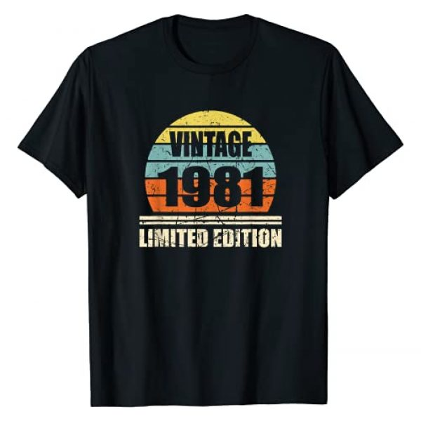 40th Birthday Gifts Vintage 1981 Limited Edition Graphic Tshirt 1 Vintage 1981 40th Birthday 40 Years Birthday Gift T-Shirt