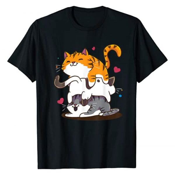 Cutest Cats Graphic Tshirt 1 Cat Anime Kawaii Neko T-Shirt