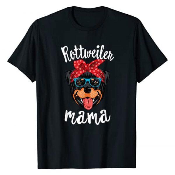 Rottweiler Mama CG Graphic Tshirt 1 Rottweiler Mama Puppy Mom Dog Mama Lover Gift T-Shirt
