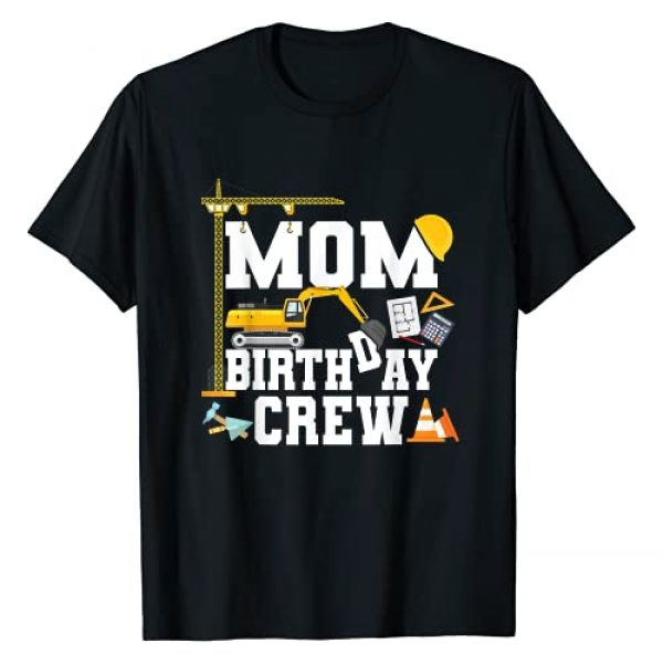 Construction Birthday Party Tshirts Mejeo Co. Graphic Tshirt 1 Mom Birthday Crew Shirt Mother Construction Birthday Party T-Shirt