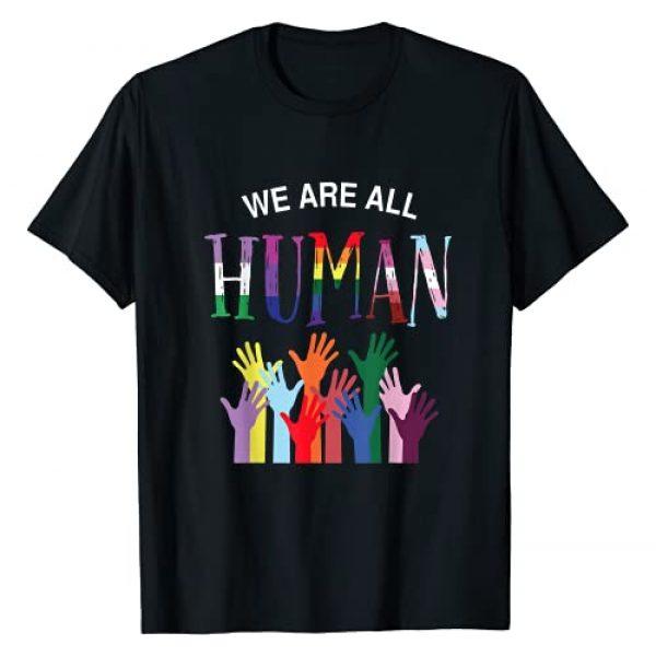 Bi Pride for women and men Graphic Tshirt 1 We are all human LGB transgender, gay pansexual pride T-Shirt