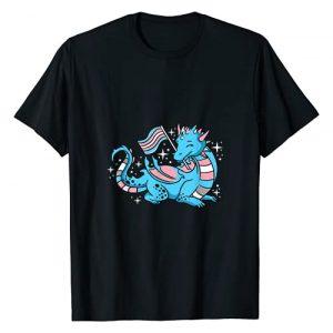 Trans Pride Dragon for Transgender Graphic Tshirt 1 Trans Pride Dragon T-Shirt