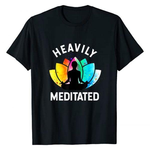 Funny Gifts Yoga Graphic Tshirt 1 Heavily Meditated - Funny Meditation & Yoga Gift T-Shirt