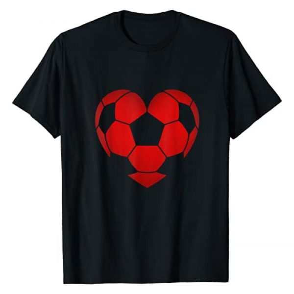 Cute Valentines Day Clothing Co. Graphic Tshirt 1 Soccer Heart Valentine's Day For Boys Girls Kids Gift T-Shirt
