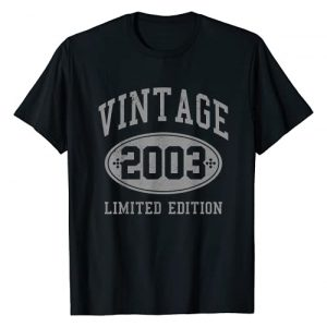 Vintage 2003 - 18th Birthday Gifts Graphic Tshirt 1 18th Birthday Gift 18 Years Vintage 2003 Limited Edition T-Shirt