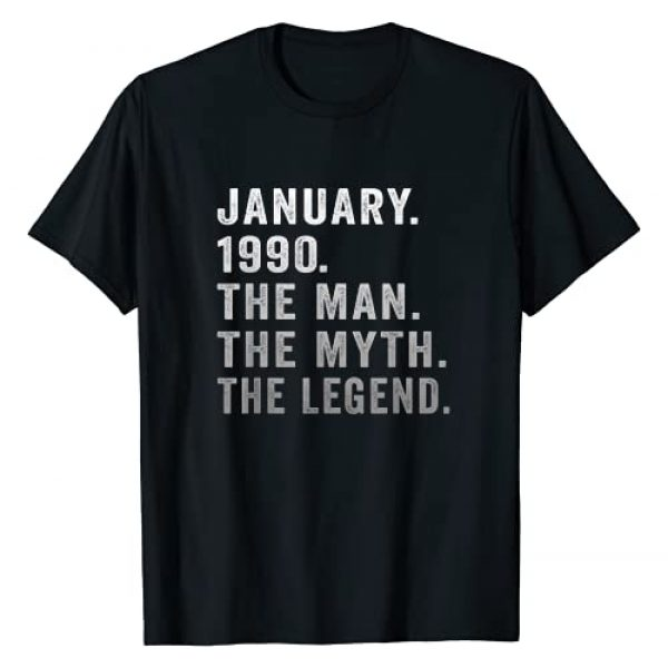 Vintage 31 Years Old Birthday Gifts For Mens Graphic Tshirt 1 31 Years Old Birthday Gifts The Man Myth Legend January 1990 T-Shirt