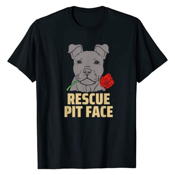 Valentines Day Puppy Love Rescue Dog Graphic Tshirt 1 Pitbull Rescue Pit Face - Funny Cute Pitbull Lovers T-Shirt