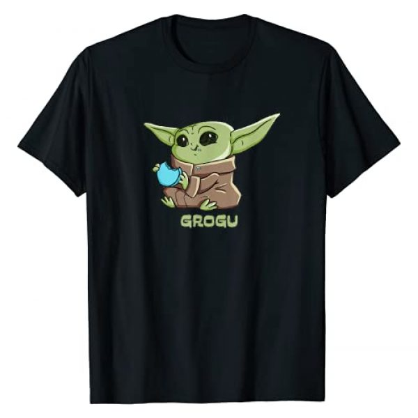 STAR WARS Graphic Tshirt 1 The Mandalorian The Child Grogu Blue Macaron T-Shirt