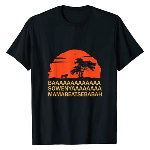 BAAA SOWENYAAA King Lion Gifts and Tees Graphic Tshirt 1 BAAA SOWENYAAA African King Lion T-Shirt