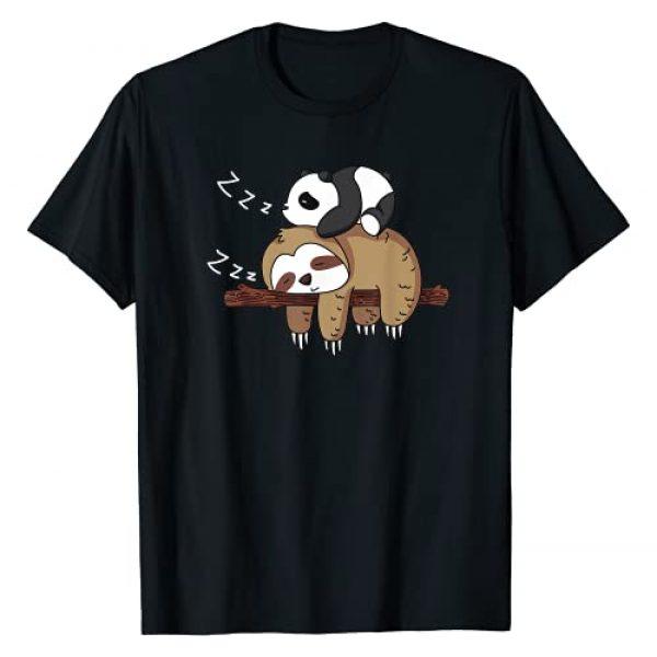 Panda sloth lover cute sleeping Graphic Tshirt 1 Cute panda sleeping on sloth design sloth T-Shirt