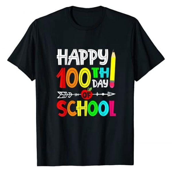 Happy 100th day of school Teacher Graphic Tshirt 1 Students Gift Arrow T-Shirt