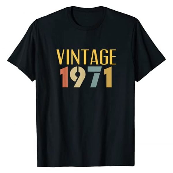 Vintage 1971 50th Birthday Gifts Graphic Tshirt 1 Vintage 1971 Cool 50 Year Old 50th Birthday Gift Men Women T-Shirt