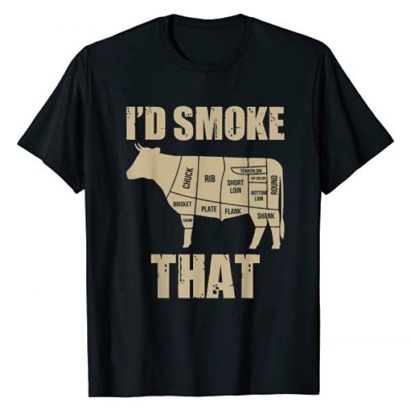 Id Smoke That Mens Tshirt - Kangs Kitchen Graphic Tshirt 1 Id Smoke That Shirt Grilling Meat BBQ Smoker Fathers Day T-Shirt