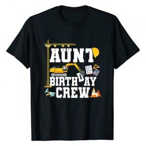 Construction Birthday Party Tshirts Mejeo Co. Graphic Tshirt 1 Aunt Birthday Crew Shirt Gift Construction Birthday Party T-Shirt