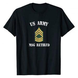 Retired Army Apparel Graphic Tshirt 1 Retired Army Master Sergeant Military Veteran T-Shirt