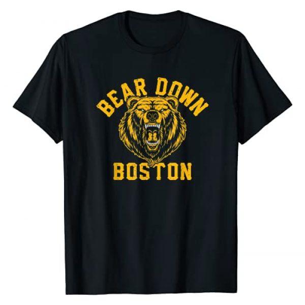 BearDownBostonCo. Graphic Tshirt 1 Vintage Beware of Boston Bear-Down Ice Hockey Sports Gift T-Shirt