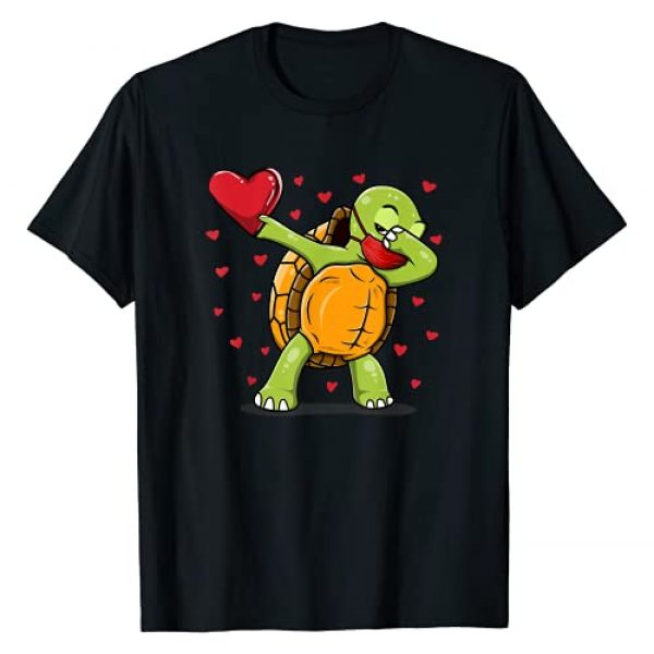 Teeisle Holiday Gifts Graphic Tshirt 1 Dabbing Turtle Face Mask Dab Dance Valentine Gifts Boy Girl T-Shirt