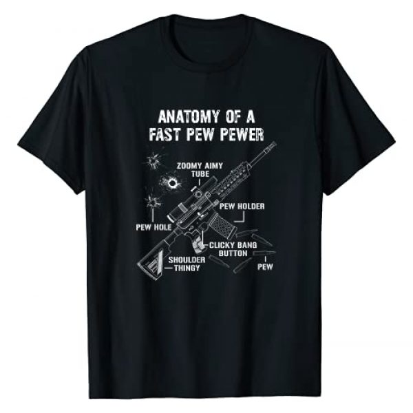 Funny Ammo Gun Lovers Saying Gun Owner Gift Ideas Graphic Tshirt 1 Funny Anatomy Of A Pew Pewer - 2A Supporter - Funny Gun Meme T-Shirt