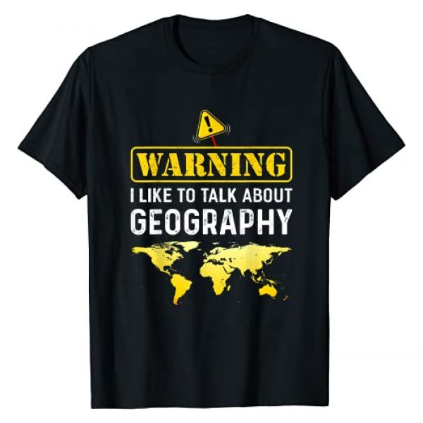 AKOKAY Graphic Tshirt 1 I Like To Talk About Geography T-Shirt Funny Geographer T-Shirt