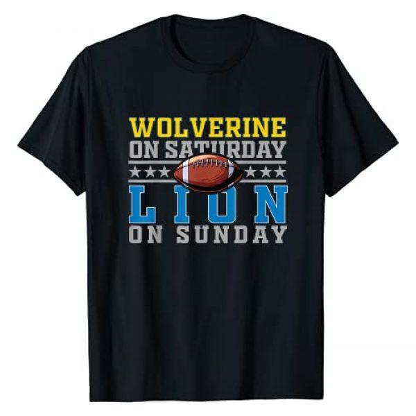 wolverine on saturday lion on sunday football gift Graphic Tshirt 1 Ann Arbor Detroit wolverine on saturday lion on sunday T-Shirt