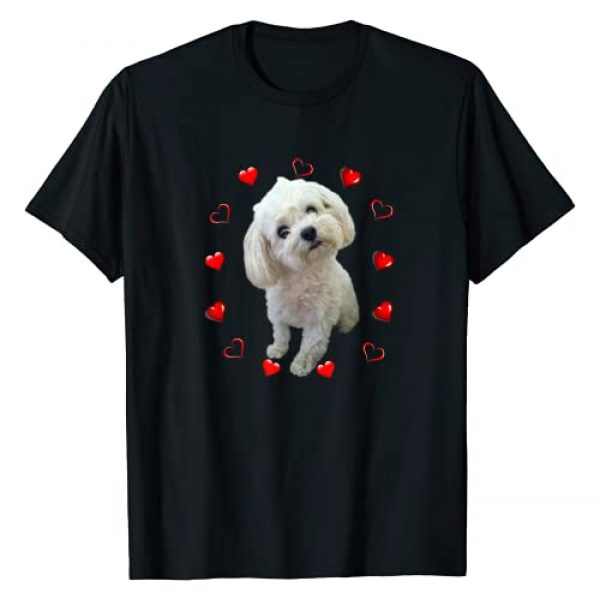 Maltese Dogs Fan Graphic Tshirt 1 Maltese Dog Lover Puppy Owner Maltipoo Mix Fans Hearts Gift T-Shirt