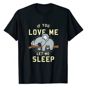 Australian Animal T-Shirts Koala Tank Tops Graphic Tshirt 1 Cute Animal Gift Idea Sleeping Koala T-Shirt