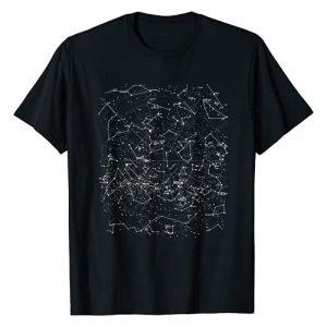 M ASTRO Graphic Tshirt 1 Astronomy Constellations Map, Stars Galaxy Celestial T-Shirt