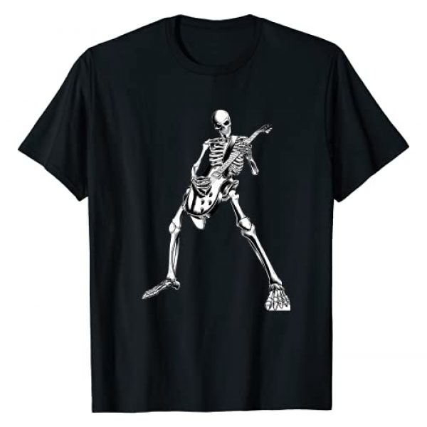 Guitars Electric Acoustic tee gifts halloween Graphic Tshirt 1 skeleton playing guitar electric Acoustic Classical T-Shirt