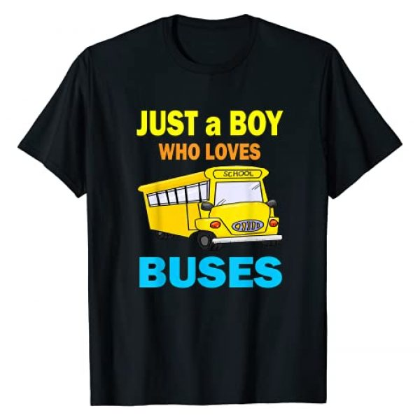 Kids School Bus Lover T-shirt for Toddlers Boys Graphic Tshirt 1 Just A Boy Who Loves School Buses T-shirt & Cute Bus Lovers T-Shirt