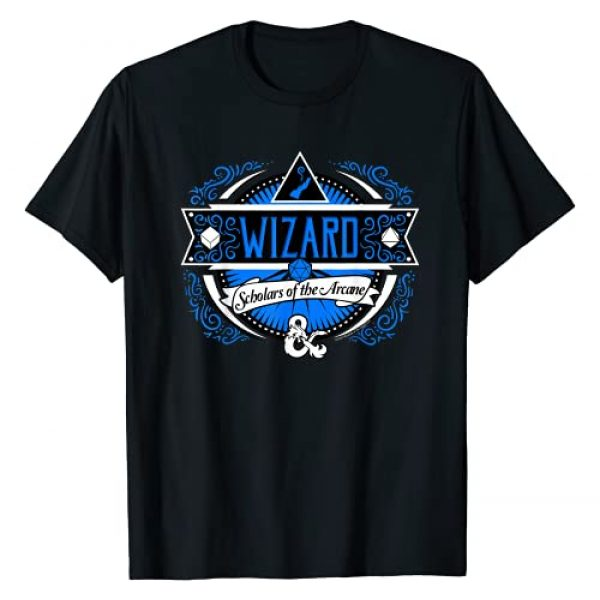 Dungeons & Dragons Graphic Tshirt 1 Wizard Scholars Of The Arcane Logo T-Shirt