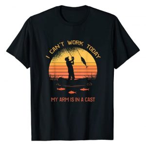 Lucky Brand Graphic Tshirt 1 Fisherman, I can't work today my arm is in a cast, Funny T-Shirt