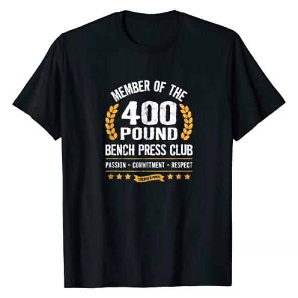 Bench Press Club Gym Apparel for Men and Women Graphic Tshirt 1 400 Pound Bench Press Club Strong Men Women Gym T-Shirt
