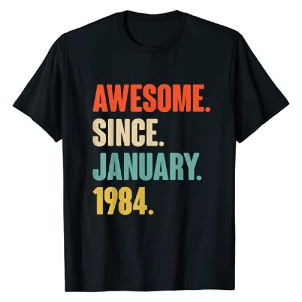 Best Birthday Tee Graphic Tshirt 1 Gift for 37 Year Old - Awesome Since January 1984 Birthday T-Shirt
