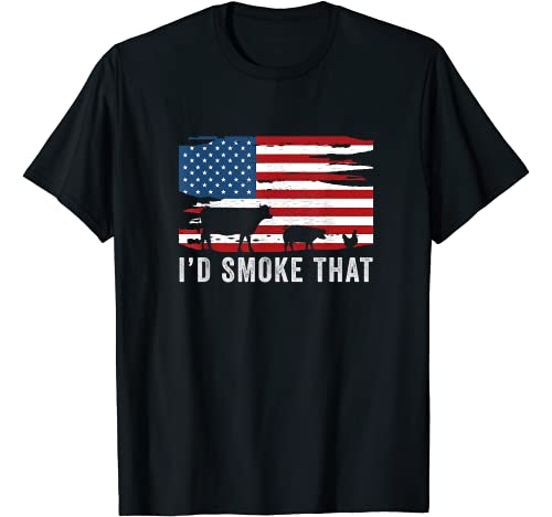 Outdoor Chef BBQ Lover Graphic Tshirt 1 Id Smoke That Barbecue T-Shirt