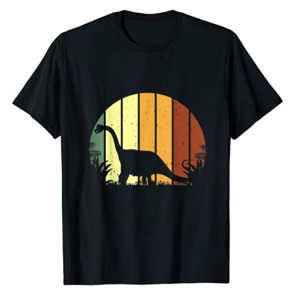 Dinosaur T -Shirt   Brontosaurus Tee   Vegan Tee Graphic Tshirt 1 Retro Brontosaurus Shirt, Dinosaur Tee, Vegetarian Shirt T-Shirt