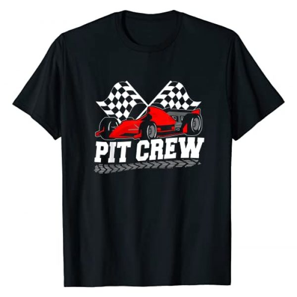 Car Racing Pit Crew Checkered Flag Party Gifts Graphic Tshirt 1 Pit Crew Car Racing Checkered Flag Racing Party T-Shirt