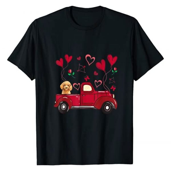 Poodle Lovers Apparel Graphic Tshirt 1 Valentines Day Poodle - Cute Poodle Dog Love Truck T-Shirt