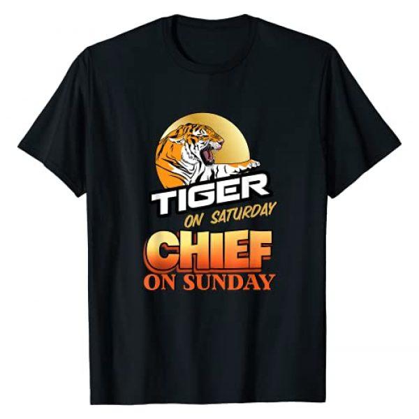 Roosterville USA Graphic Tshirt 1 TIGER SATURDAY CHIEFS Sunday-Kansas City Missouri Football T-Shirt