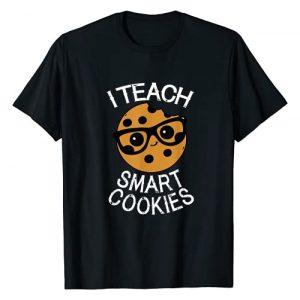 Teacher Tees by Crush Retro Graphic Tshirt 1 Funny Teacher Shirt I Teach Smart Cookies Shirt Nerd Tee T-Shirt