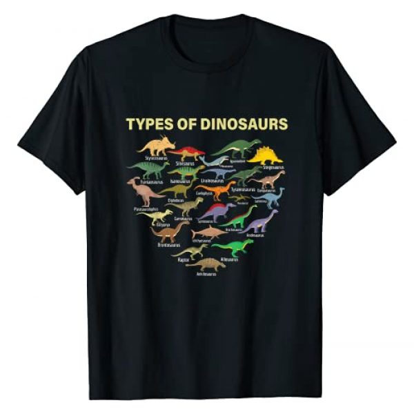 Future Paleontologist fossil dinosaurs lover gifts Graphic Tshirt 1 types of Dinosaurs Dino identification kids boys girls women T-Shirt