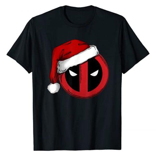 Marvel Graphic Tshirt 1 Deadpool Icon Santa Hat Christmas Graphic T-Shirt T-Shirt