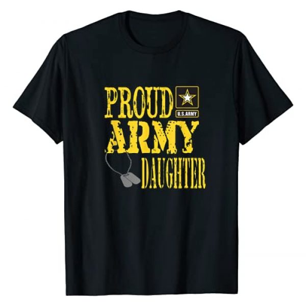 Army Daughter Shirt Graphic Tshirt 1 Proud Army Daughter Military Pride T-Shirt