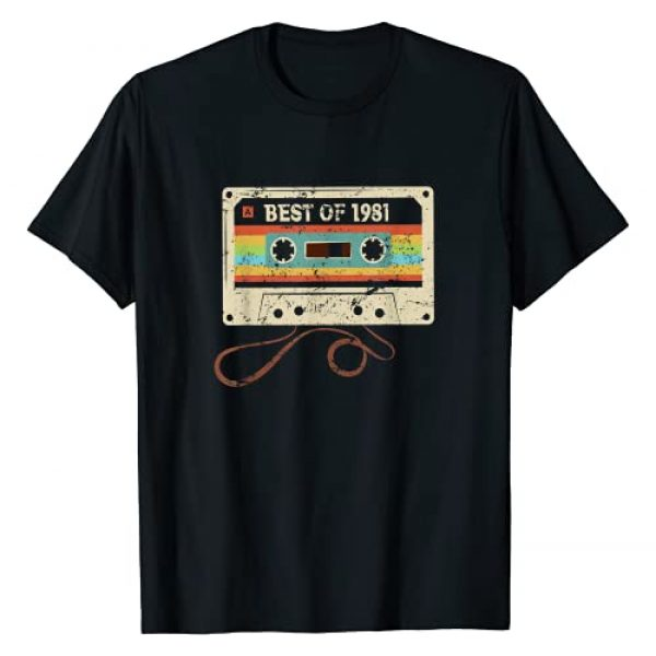 Cassette 40th Birthday 1981 Vintage Co. Graphic Tshirt 1 Best 1981 Vintage 40th Birthday 40 Year Old Gift Men Women T-Shirt