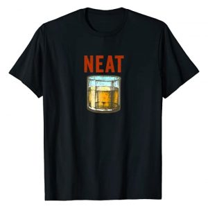 Neat Whiskey Drinks Tees and Designs Graphic Tshirt 1 Whiskey Neat Old Fashioned Scotch and Bourbon Drinkers T-Shirt