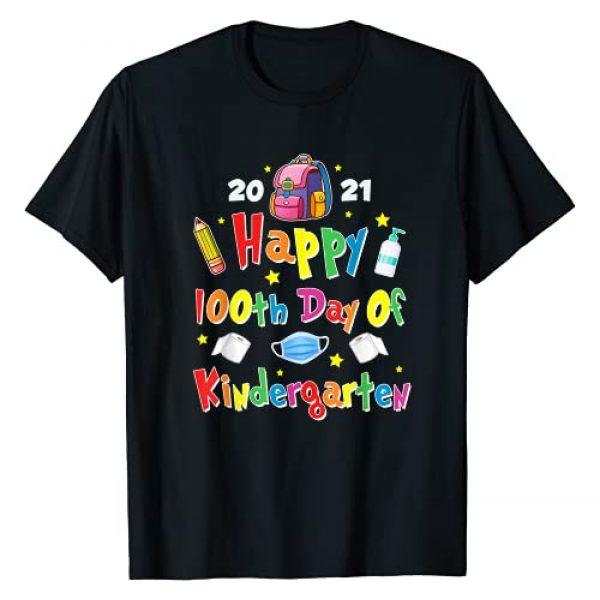 Happy 100th Day of School 2021 Kindergarten Gift Graphic Tshirt 1 100 Days Of Kindergarten School Gift Students Teachers Kids T-Shirt