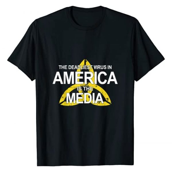 the Media Graphic Tshirt 1 The Deadliest Virus in America is the Media Anti media T-Shirt